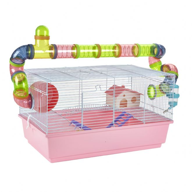 Pet Ting Pink Lily Rodent Cage
